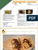 PeachDish Tilapia Tacos PeachDish RecipeCard