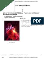 La Hipertension Arterial, Factores de Riesgo y Complicaciones _ La Hipertension Arterial