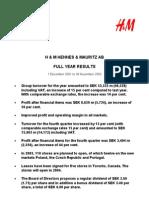 H&M Hennes & Mauritz Full Year Results 2003 Martin Engegren
