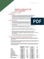 H&M Hennes & Mauritz Nine Month Report 2011 Martin Engegren