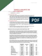 H&M Hennes & Mauritz Six Month Report 2011 Martin Engegren