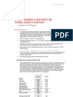 H&M Hennes & Mauritz Three Month Report 2011 Martin Engegren