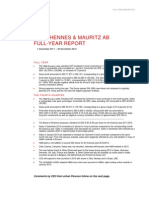 Martin Engegren H&M Hennes & Mauritz Full Year Report 2012