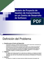 Modelo de Proyecto de Gestión de Conocimiento en un Centro de Desarrollo de Software
