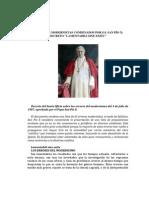 S.S. San Pío X - Decreto Lamentamili Sine Exitu