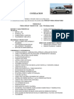 Cotizacion Nissan Tiida Base Sedan Entry Level 2013