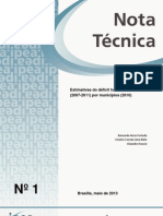 Déficit habitacional Brasileiro por município