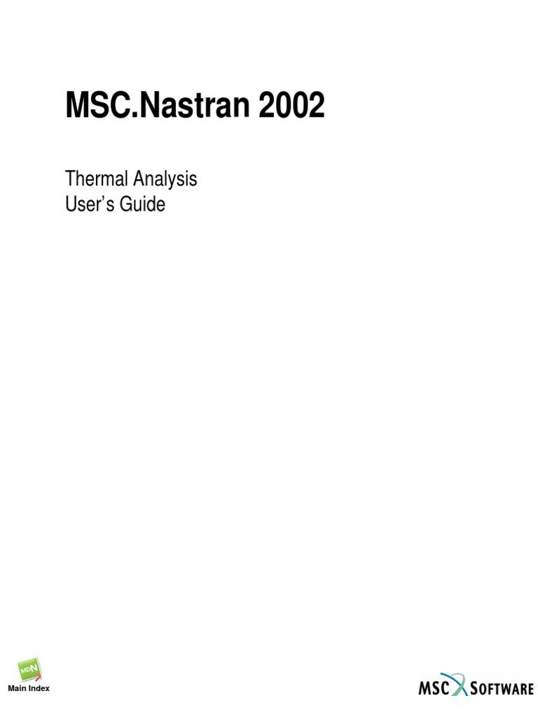 msc nastran 2002 thermal analysis user s guide heat transfer rh scribd com Designing a Quick Reference Guide Designing a Quick Reference Guide