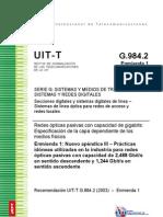 Recomendación 1 ITU-T 984.2