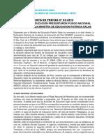 FENAEP NOTA DE PRENSA N-¦ 02