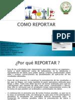 Como Reportar