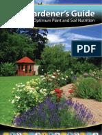 Gardeners Guide for Optimum Plant & Soil Nutrition