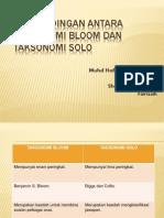 47155311 Perbandingan Antara Taksonomi Bloom Dan Taksonomi Solo