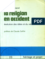 La Religion en Occident Evolution Des Idees Et Du Vecu Heritage -  Michel Despland