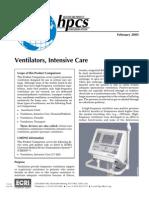 Ventilators, Intensive Care