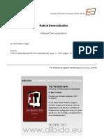 1.3 - Krüger, Hans Peter - Radical Democratization (EN)