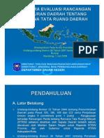 Tata Cara Evaluasi Rancangan Peraturan Daerah Tentang RTRW