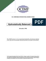 Hydrostatically Balanced Loading