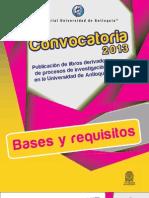 BASES Y FICHA Diligenciable -Convocatoria Investigaciones-2013