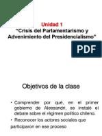 Unidad 1 Crisis del Parlamentarismo 3º Medio 1