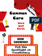 thgradecommoncorewordwallvocabularycardshollywoodtheme