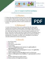 Practical 6 Identification of Gram Ve Bacteria