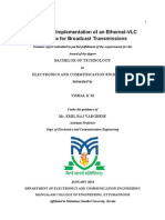 Design and Implementation of an Ethernet-VLC Interface for Broadcast Transmissions