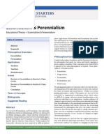 Essentialism & Perennialism