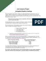 Field Applied Pipeline Coating
