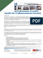 Masilla CA-9 Resistente Al Aceite - Masilla CA-14 Mantenimiento General