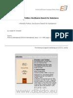 1.2 - Schwatz, Joseph M. - Arendt's Politics. the Elusive Search for Substance (en)