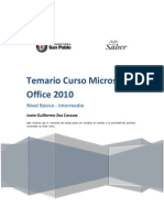 Temario Microsoft Office 2010 - Backus