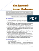 Indian Economy's Strengths & Weaknesses-VRK100-01Sep2013