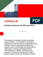 Developer Experience With WebLogic