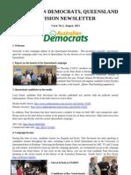 Queensland Democrats Newsletter August 2013