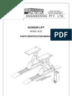 scissor lift  spare part Manual list