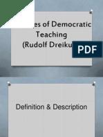 Theories of Democratic Teaching