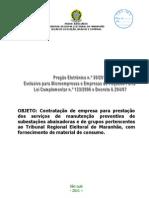030 Edital Manutencao de Subestacoes