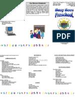 Curriculum Brochure Preschool[1]