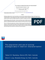Acquisition & Use of Outcrop Analogue Data - Reservoir Characterization