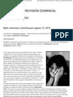 Björk entrevista a Stockhausen _ La periódica revisión dominical
