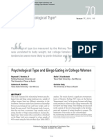 Psychological Type and Binge Eating in College Women