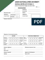 IGNOU Assessment Sheet