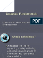 5.01 Database Fundamentals