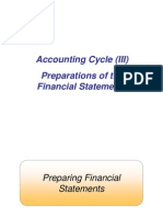 Lecture 4 Accounting Cycle (III) - Financial Statements