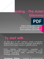 Branding - The Asian Dilemma