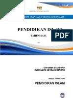 86086809 Dokumen Standard Kurikulum Pendidikan Islam Tahun 1 2