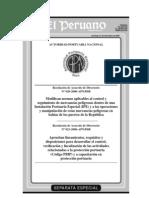 RAD Nº 020-2006-APNDIR, Del 20 de Diciembre 2006, Norma apicable al control y seguimiento de mercancías peligrosas dentro de IPE