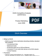 DiiVA Competitive Analysis (Preliminary) Product Marketing June 2009 DiiVA