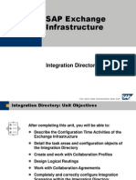 SAP Exchange Infrastructure- Integration Directory